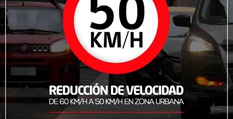 Reducción de la velocidad a 50 Km/h
